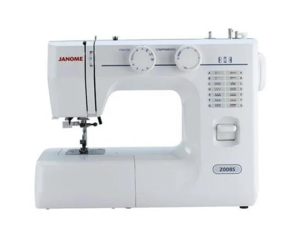 Máquina De Costura Reta Janome 2008s Portátil Branca