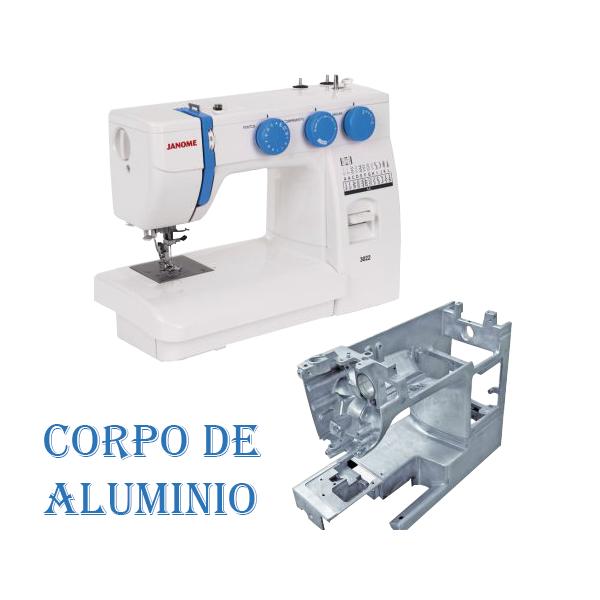 Máquina De Costura Reta Janome 3022 Portátil Branca E Azul