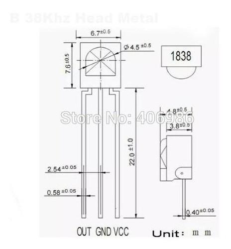 10 X Sensor Vs1838 Vs1838b Receptor Infravermelho Ir Arduino