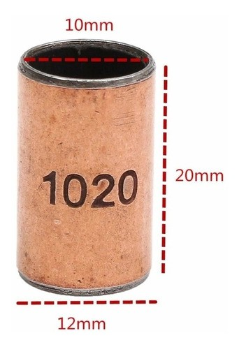 10pcs Bucha De Bronze Autolubrifante 10pcs 10x12x20mm - Full