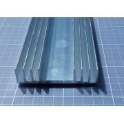 1metro Dissipador De Calor De Alumínio 8,6 Cm(l) X 2,0 Cm(a)