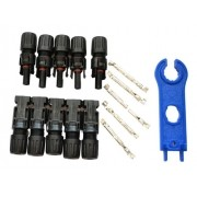 5 X Conector Mc4 Painel Solar Fotovoltaico + Chave - Full