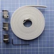 6 Mts Correia 10mm Alma Aço + 6 Polias 20 Dentes Furo 6,35mm