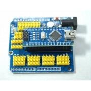 Arduino Nano V3.0 + Shield Adaptador Base Para Expansão