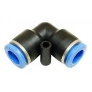 Conexão Pneumática União L Cotovelo Ø 6mm Pv6 - 4pcs