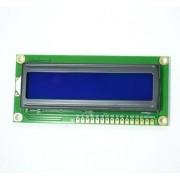 Display Lcd 16x2 1602 Fundo Azul Arduino Raspberry Pic