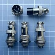 Kit 4 X Conector Gx16-4 4pinos 16mm Macho E Femea