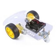 Kit Chassi 2 Rodas Robótica Robô - Full