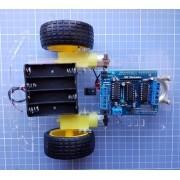 Kit Chassi 2 Rodas + Shield L293 Drive Ponte H