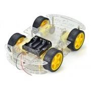 Kit Chassi Carro 4 Rodas - Robótica