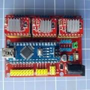 Kit Cnc - Cnc Shield V4 + Arduino Nano + 3 X A4988 - Grbl