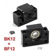 Kit Mancal Para Fuso De Esferas Cnc Router Bk12 + Bf12