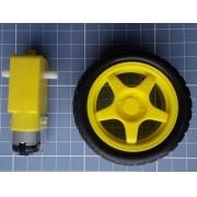 Kit Motor Dc 3-6v + Roda - Redutor Plastico