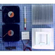 Kit Peltier 12706+2 Dissipadores+2 Cooler+ Termostato W1209