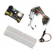 Kit Protoboard 830 + Regulador Tensão + 65 Jumpers + P4 9v