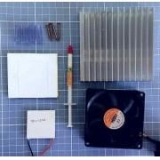 Kit Refrigeração 12v - Peltier 12706 + Dissipador + Cooler