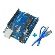 Placa Compatível Arduino Uno R3 Dip Atmega328