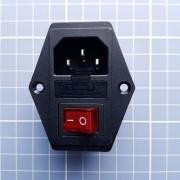 Tomada Fêmea Com Porta Fusível Interruptor Impressora 3d Cnc