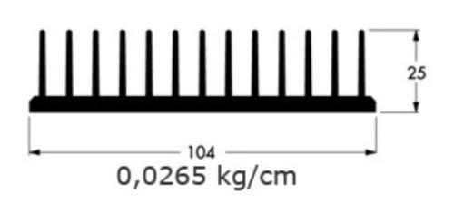 1 Metro Dissipador De Calor De Alumínio 10,4cm(l) X 2,5cm(a)