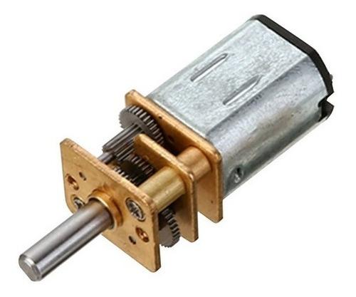 2 X Micro Motor Redução N20 12v 100rpm Suporte + Roda - Full