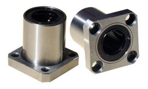 2 X Rolamento Linear Com Flange Lmk8uu 8mm Quadrada - Full