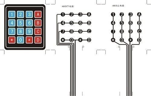 3 X Teclado Matriz Membrana Matricial 4x4 16 Teclas Arduino