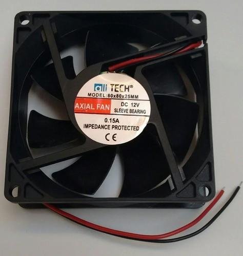 3x Ventilador Cooler Ventoinha 80x80x25mm 12v 0.15a - Full