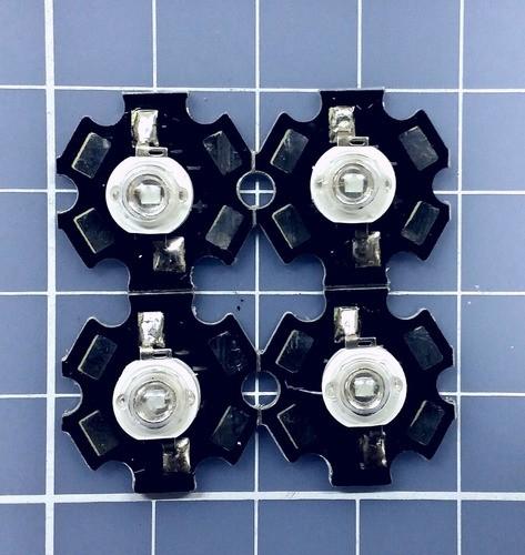 4 X Power Led 3w Branco 10000k + Dissipador Estrela -aquário