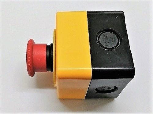 Botoeira Plástica Amarela C/ Botão Emergência Cnc - Full