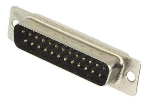 Conector Db25 Macho Solda Fio - 25 Peças