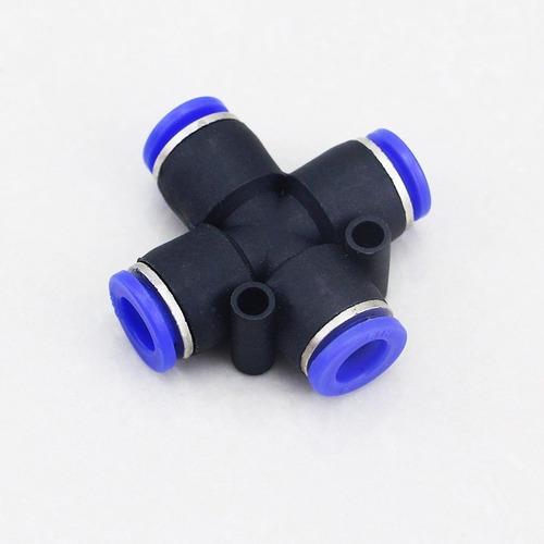 Conexão Pneumática União Cruzeta Ø 8mm Pza 8 - 4pcs