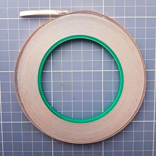 Fita Adesiva De Cobre Condutiva 30mt X 5mm