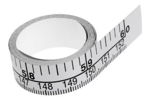 Fita Metálica Adesiva Graduada 1,51m X 15mm