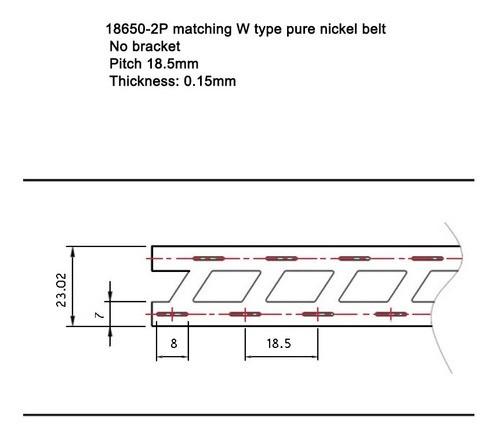 Fita Níquel 18650 Para Pack 2s - 0.15mm Espessura - 01 Metro