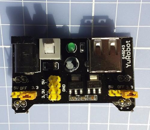 Fonte Ajustável Protoboard 3.3v/5v Arduino Pic Arm Avr Mcu