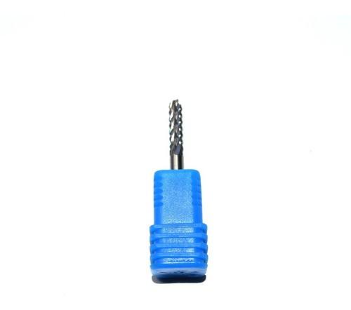 Fresa Topo Raiada 3mm Ideal Para Usinagem De Acrílico, Plástico, Madeira, Pcb Cnc Router Tupia Dremel