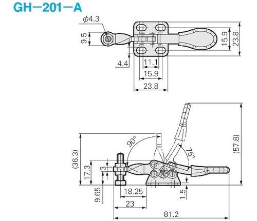 Grampo Alavanca Sargento Gh201 - Para Cnc Router Marcenaria
