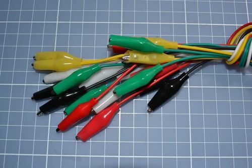Kit 10 Cabos Com Garra Jacaré Varias Cores Arduino
