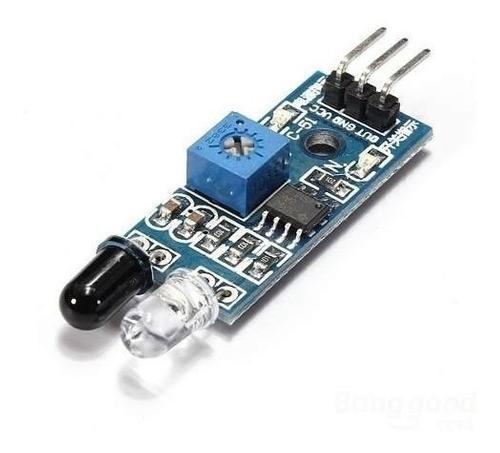 Kit 5 Sensor Obstáculo Infravermelho Reflexão Lm393 Arduino