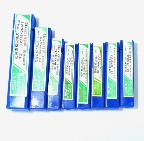 Kit 8 Fresas Topo Hss 3 Cortes 2mm Até 12mm - Frete Gratis