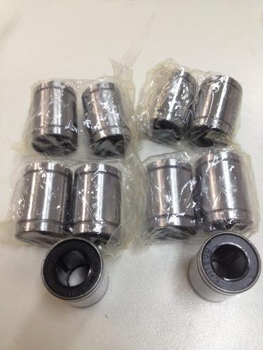 Kit Com 12 Unidades - Rolamento Linear Lm12uu Eixo 12mm