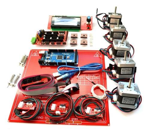 Kit Completo Eletrônica Impressora 3d Reprap 1.4 Lcd Sd