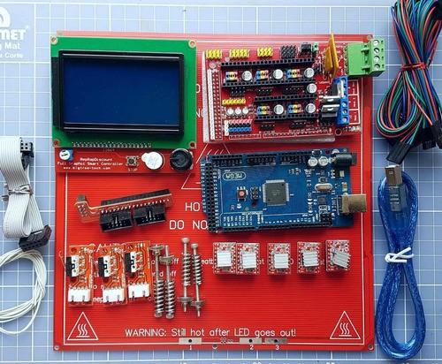 Kit Eletrônica Impressora 3d Reprap 1.4 - Display 12864 Full