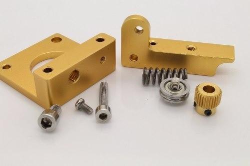 Kit Extrusora Alumínio Mk8 1.75 + 1mt Tubo Ptfe+2 Conectores
