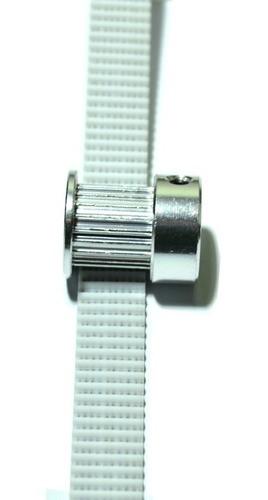 Kit Gt2 10mm - 6mt Correia Alma De Aço + 4 Polias 20 Dentes