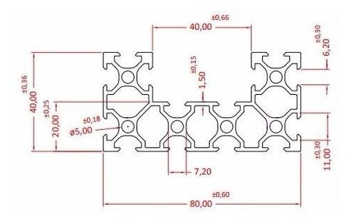 Kit Perfil Alumínio - Cnc V-slot Dms Maker