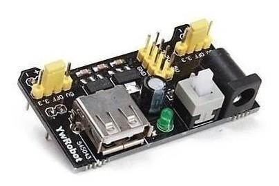 Kit Protoboard 830 Furos + Fonte Ajustável 3.3v/5v Arduino