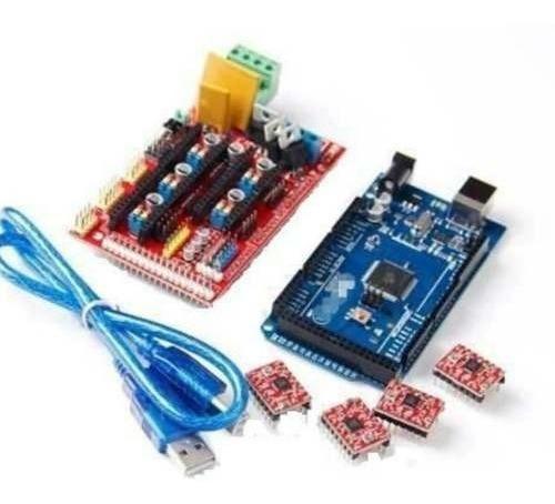Kit Ramps 1.4 + 4x A4988 + Mega 2560 - Impressora 3d-reprap