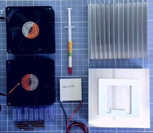 Kit Refrigeração - Peltier 12706 + 2 Dissip+ 2 Cooler+ Fonte
