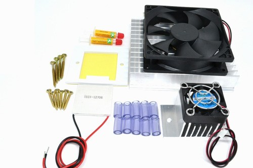 Kit Refrigeração - Peltier 12706 + Acessorios + Fonte 12v10a